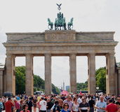 Porta de Brandebourg em Berlim Fotos de Stock Royalty Free