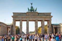 Porta de Brandebourg em Berlim, Alemanha Fotos de Stock