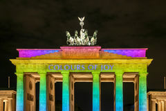A porta de Brandemburgo em Berlim em, Alemanha Imagens de Stock Royalty Free