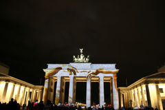 A porta de Brandemburgo em Berlim em, Alemanha Foto de Stock Royalty Free