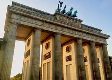 Porta de Brandemburgo no dia! Foto de Stock Royalty Free