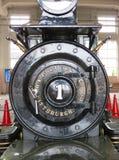 Porta de caixa de fumo, locomotiva de vapor Fotografia de Stock