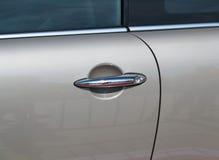 Porta de carro com punho Foto de Stock Royalty Free