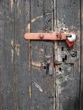 Porta de celeiro e cadeado Foto de Stock Royalty Free