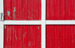 Porta de celeiro vermelha Imagem de Stock