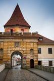 Porta de Cesky Krumlov Budejovice externo Fotos de Stock Royalty Free
