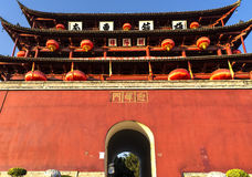 Porta de Chaoyang em Jianshui, Yunnan, China Imagens de Stock Royalty Free