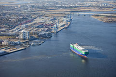 Porta de Charleston e de navio Imagem de Stock Royalty Free