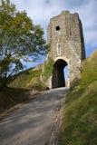Porta de Colton no castelo de Dôvar fotos de stock