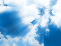Porta de cristal no céu Imagens de Stock