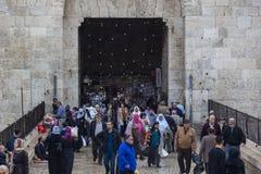 Porta de Damasco Cidade velha do Jerusalém, Israel Imagem de Stock Royalty Free