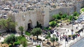 Porta de Damasco com escadas Imagem de Stock