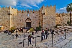 Porta de Damasco do Jerusalém Fotos de Stock