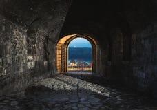 Porta de Defterdarova na fortaleza de Kalemegdan, Belgrado imagem de stock