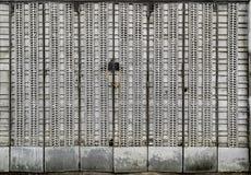 Porta de dobramento do metal Foto de Stock Royalty Free