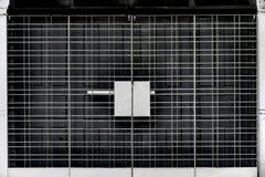 Porta de dobramento do metal Imagem de Stock
