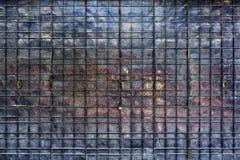 Porta de dobramento manchada do metal Fotografia de Stock