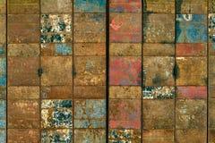 Porta de dobramento oxidada do metal Imagem de Stock Royalty Free