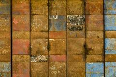 Porta de dobramento oxidada do metal Imagens de Stock Royalty Free