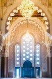 Porta de Entance da mesquita de Hassan II em Casablanca - Marrocos fotos de stock