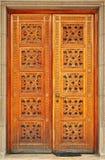 Porta de entrada de madeira Imagens de Stock Royalty Free
