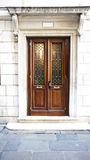 Porta de madeira de Brown Imagens de Stock