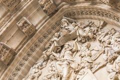 Porta de entrada de Sevilla Cathedral Sevilha, Spain Fotografia de Stock