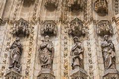 Porta de entrada de Sevilla Cathedral Sevilha, Spain Foto de Stock Royalty Free