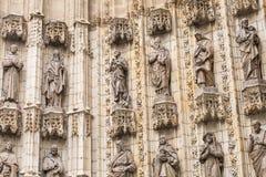 Porta de entrada de Sevilla Cathedral Sevilha, Spain Fotos de Stock