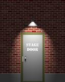 Porta de estágio do teatro ilustração stock