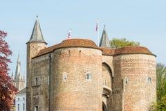 Porta de Ghent (Gentpoort) Fotos de Stock Royalty Free