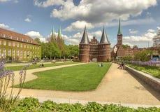 Porta de Holsten, Lubek Foto de Stock Royalty Free