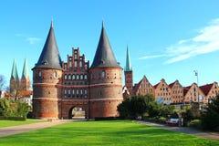 Porta de Holsten, Lubeque, Alemanha Fotografia de Stock Royalty Free