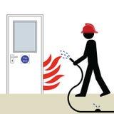 Porta de incêndio ilustração royalty free