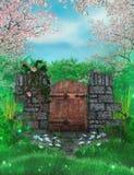 Porta de jardim ilustração do vetor