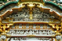 Porta de Karamon no santuário de Nikko Toshogu em Japão foto de stock