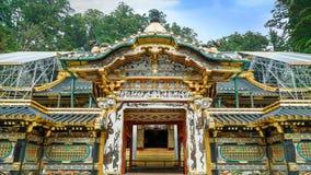 Porta de Karamon no santuário de Nikko Toshogu em Japão fotografia de stock royalty free
