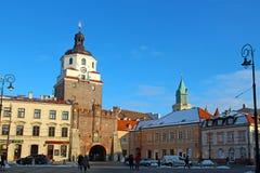Porta de Krakow, Lublin, Polônia Fotografia de Stock Royalty Free