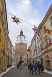 Porta de Krakow na cidade velha de Lublin, Polônia foto de stock royalty free