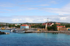 Porta de Kralendijk - Antilhas holandesas Imagens de Stock Royalty Free