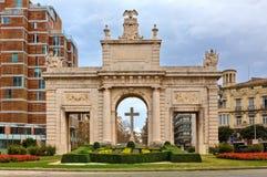 Porta de la Mar in Valencia, Spain. Stock Photo