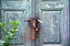 Porta de madeira Imagens de Stock