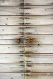 Porta de madeira aparafusada Foto de Stock Royalty Free
