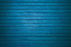 Porta de madeira azul do frete Foto de Stock Royalty Free