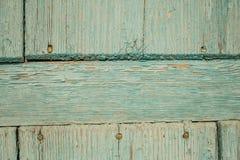 Porta de madeira azul velha Foto de Stock