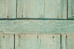 Porta de madeira azul velha Fotografia de Stock Royalty Free