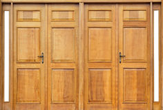 Porta de madeira bonita Foto de Stock Royalty Free