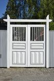Porta de madeira branca Fotos de Stock Royalty Free