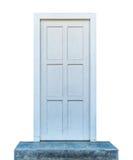 Porta de madeira branca Fotografia de Stock Royalty Free