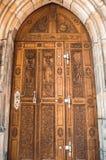 Porta de madeira cinzelada Foto de Stock Royalty Free